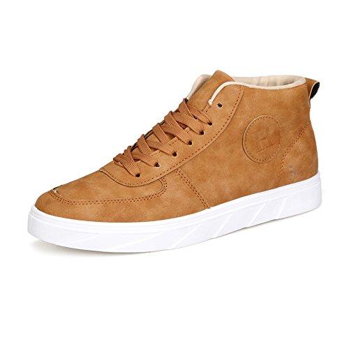 Lace di Casual Scarpe up da Brown Cricket Sneakers Colore Uomo Tela Puro Classiche di da Mocassini Scarpe X8dzrwXq