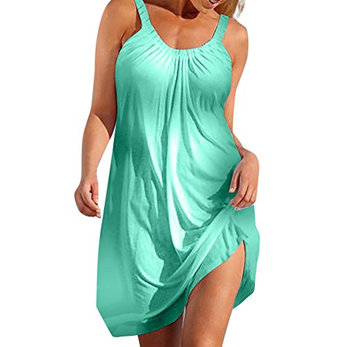 Yucode Women's Summer Causal Solid Color Beach Dress Swimsuit Bikini Cover -