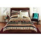 8pc Southwest Kokopelli Turquoise Native American Queen Comforter Set (8pc Bed in a Bag)