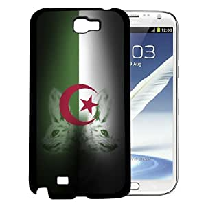 Algeria Flag with Fennec Fox in Background Hard Snap on Cell Phone Case Cover (note 2)