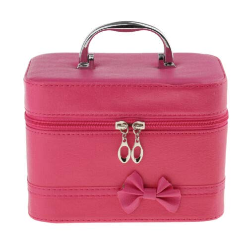 Multifunction Box Travel Makeup Cosmetic Bag Toiletry Organizer Case Pouch (Color - Rose - Red Acryl Rose