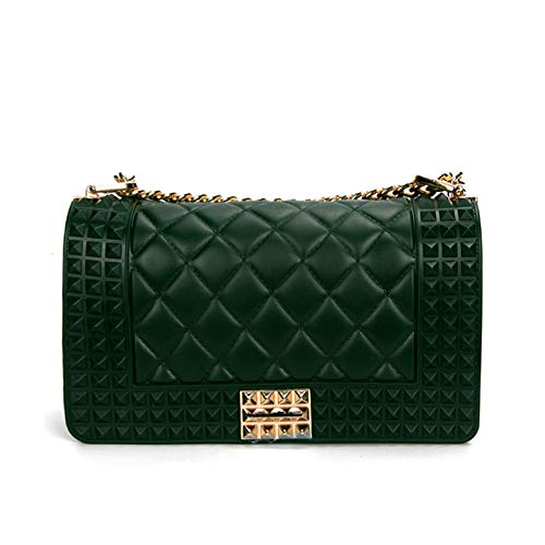 Small Package Shoulder Western Rhombic Chain Fashion WEII Women's Slung Jelly Bag Fragrance green Small qYp6xgWw5