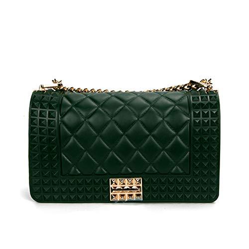 Rhombic Package WEII Western Small Chain Bag green Fashion Women's Shoulder Small Jelly Slung Fragrance nrYtYdBwq