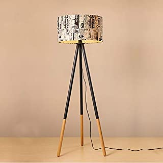 Festnight Floor Lamp Modern Tripod Vertical Bedside Standing Light Wooden Sofa and Couch End Side Lamp for Living Room Bedroom Study Room Home Office