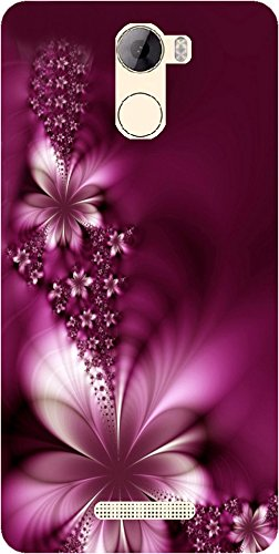 detailed look 2e7b4 107fc BuyFeb Designer Printed Back Case Cover for Gionee A1 Lite (Purple)