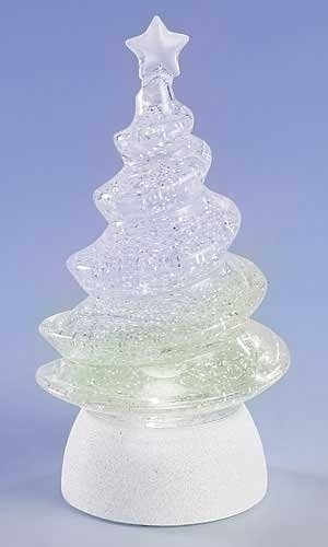 Led Lighted Color Changing Christmas Tree Swirl Glitterdomes