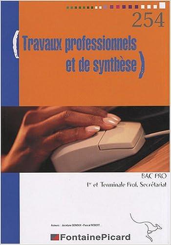 Travaux professionnels et de synthèse 1e et Tle Bac pro secrétariat epub, pdf