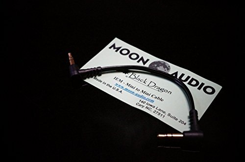 (Moon Audio Black Dragon v2 3.5mm to 3.5mm replacement upgrade cable for Headphone amplifer dock cable)