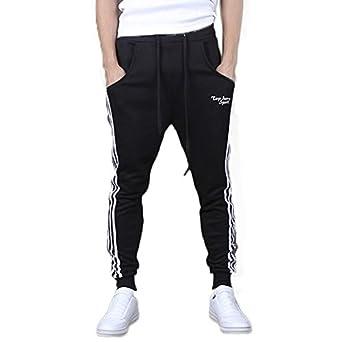 46a2c7b2b Hothanger Mens Joggers New Fashion Black Casual Harem Sweatpants ...