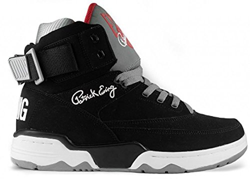 Patrick Ewing 33 HI Black Grey Red sz 8 US mens ref