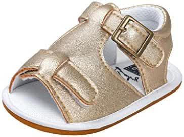 Dacawin Baby Boys Summer Leather Buckle Strap Sandals Shoes