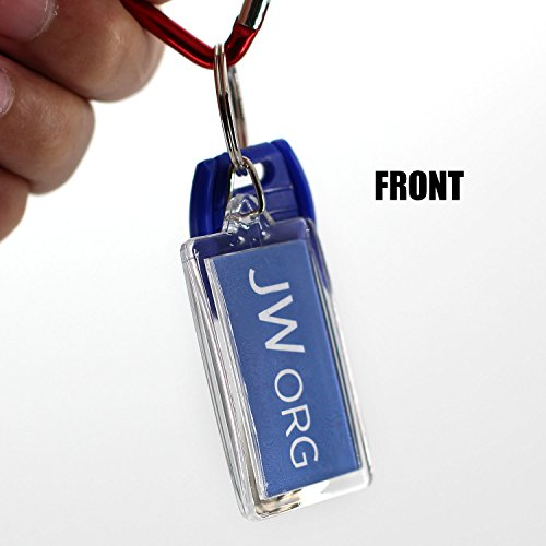 Rectangle Jw org No Blood Double Sided Key Chain-10 Pieces