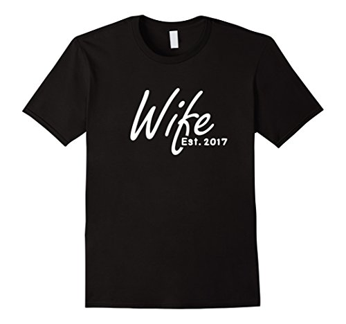 1st Wedding Anniversary Gift For Her - Wife Est 2017 Shirt