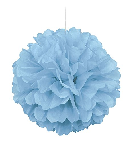 light blue pom pom decorations - 4