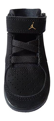 Nike Jordan 1 Flight 3 Bt, Zapatos de Primeros Pasos para Bebés Negro / Dorado / Blanco (Black / Metallic Gold-White)
