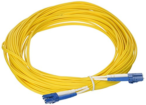 (C2G 37464 OS2 Fiber Optic Cable - LC-LC 9/125 Duplex Single-Mode PVC Fiber Cable, Yellow (49.2 Feet, 15 Meters))