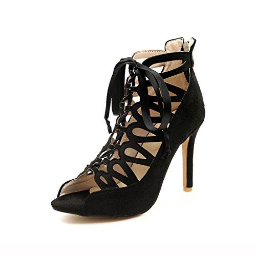 sandali black alti e sexy cerniere 40 dei tacchi fighi sandali stivali 6 wqz8xfHA