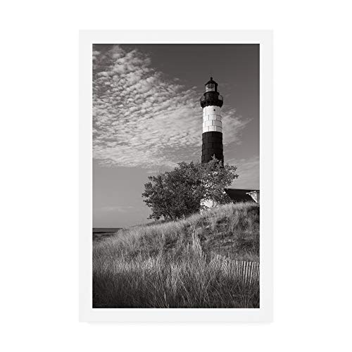 - Trademark Fine Art Big Sable Point Lighthouse II BW by Alan Majchrowicz, 12x19