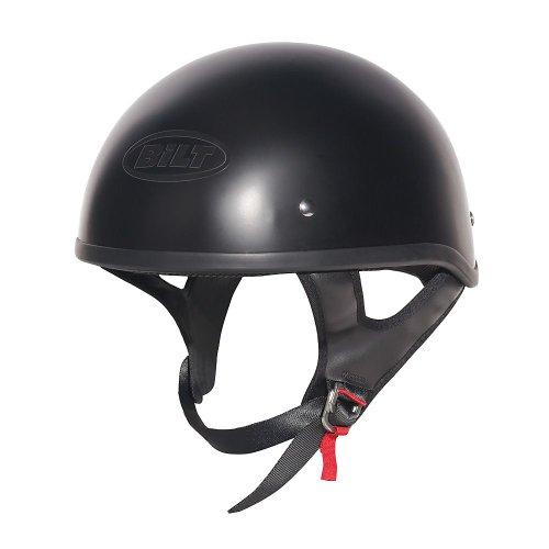 CUSTOM BILT Hawk Motorcycle Half Helmet - XS, Matte Black