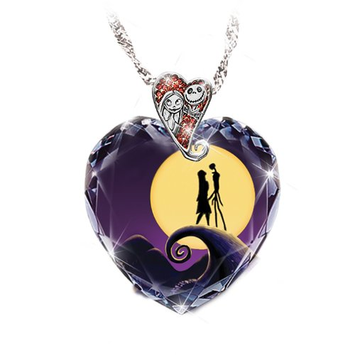 Tim Burton's The Nightmare Before Christmas Pendant Necklace by The Bradford (Heart Pendant Necklace Portrait)