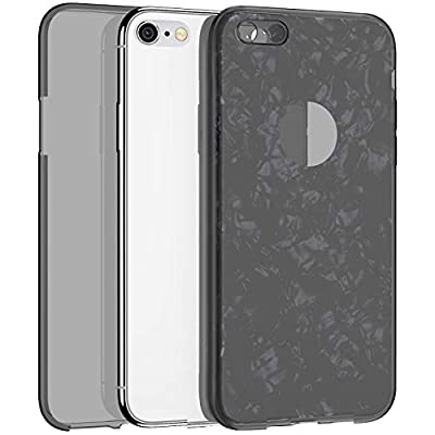 IKASEFU Compatible With iPhone 6 Plus/6S Plus Case Transparent Shell Texture Paper Ultra Thin Slim Clear 360 Full Body Protection Flexible Soft TPU silicone Shockproof Cover Case Black: Musical Instruments