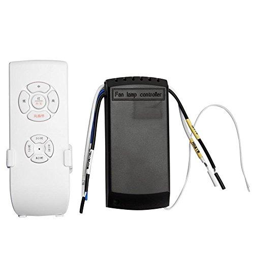 Timing Controller - Whitelotous Universal Ceiling Fan Lamp Light Remote Control Kit Timing Wireless Remote Control Receiver Speed Controller Switch