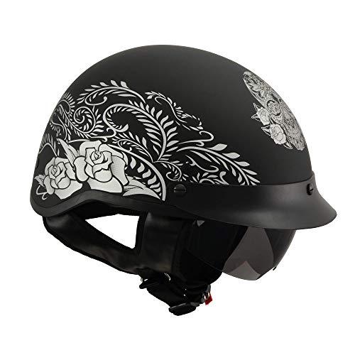 Milwaukee Performance Helmets Men's Size half helmet (MAT BLACK, L)