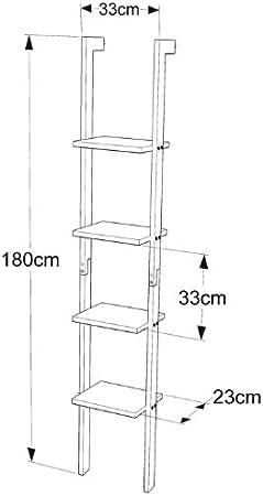SoBuy FRG15-W Estantería Librería, Estantería de Diseño, Estantería de Pared, 4 Estantes,ES