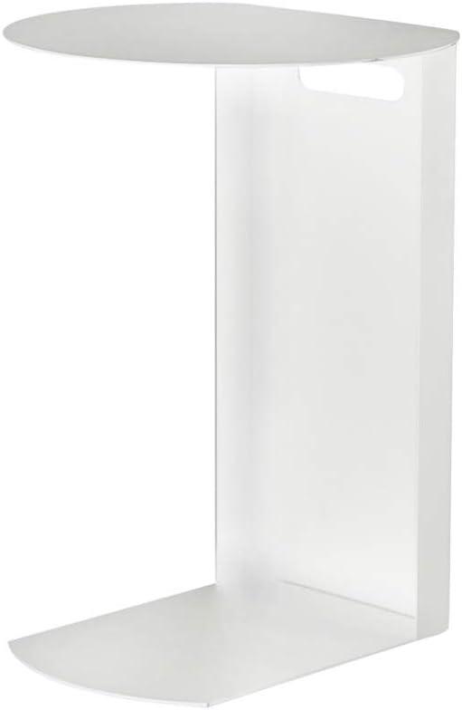 Uitverkoop 5-in-1 TABLE XIAOYAN Nordic sofa bijzettafel smeedijzer C-vorm telefoontafel kleine snacktafel 3 kleuren - 40 × 36 × 55,5 cm wit NwJOFf8