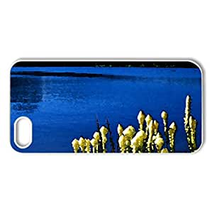 Beautiful nature - Case Cover for iPhone 5 and 5S (Lakes Series, Watercolor style, White)