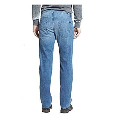 7 For All Mankind Men's Luxe Performance Relaxed Straight Leg Denim Jeans: Clothing