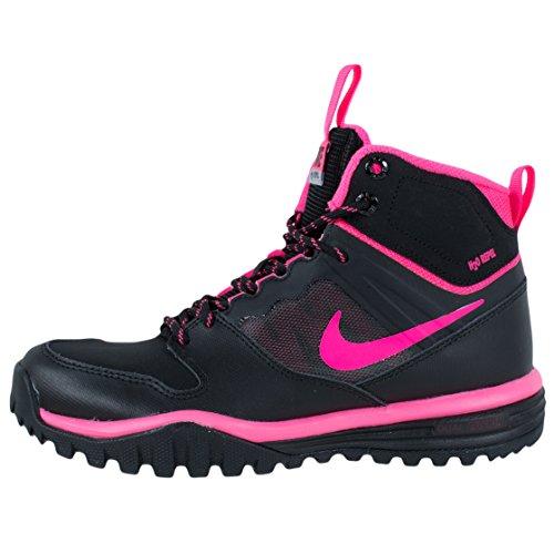 Nike Dual Fusion Hills Mid (Gs), Zapatillas de Deporte Exterior para Niños Negro / Rosa (Black / Hyper Pink)