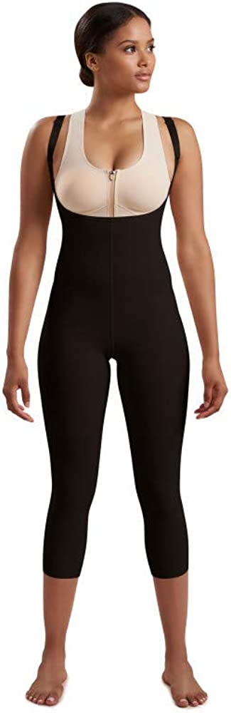 Step 2 pull on Marena Women/'s Recovery Mid-Calf-Length Compression Girdle with High-Back