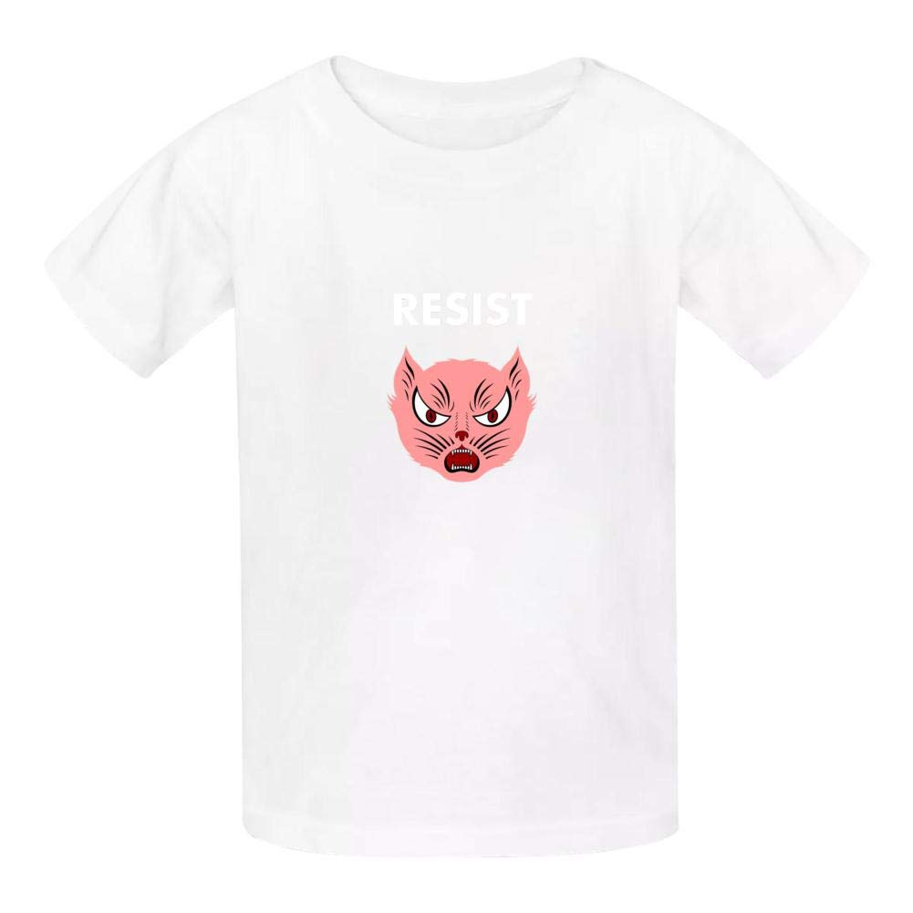 KAJKJKSS Pink Pussy Resist Unisex Baby Boys Crewneck Tees Short Sleeve Graphic T-Shirt