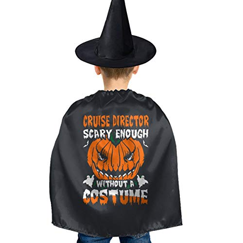 Cruise Director Halloween Costume (Cruise Director Scary Halloween Halloween Costumes Set Deluxe Cape Cloak with Hat for Kids Girl)