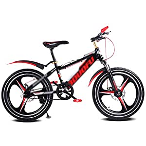 Kids' Bikes & Accessories Student Bicycle Single Speed Mountain Bike boy Bicycle Girl Bicycle 16〃18〃20〃, high Carbon Steel Frame (Color : Red, Size : 16inches)