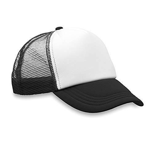 - 10PCS Colorful Polyester Mesh Cap Hat Plain Blank Baseball Caps for Sublimation Printing Adjustable Back Strap Wholesale (Black)