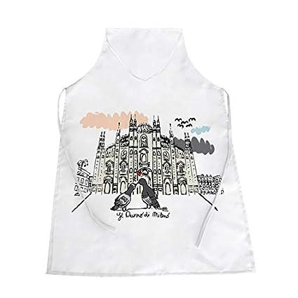 Grembiuli Da Cucina Milano.Eventradesign Grembiule Bianco Da Cucina Illustrazione Duomo Di