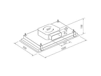 frecan - Nitro 360 acero inoxidable - Campana techo: Amazon.es ...