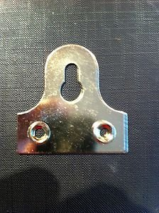 Hinge and Bracket Supplies 32Mm Slotted Mirror Plates 6 Electro Brass by Hinge and Bracket - Slotted Mirror
