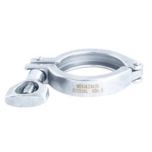 Megairon Stainless Steel SS 316 Heavy Duty Clamp,Sanitary 1.5