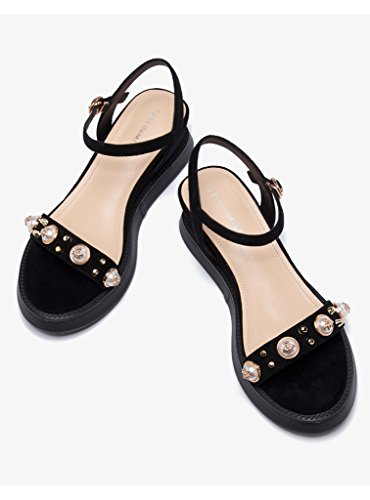 Flat Muffin Slope Bottom Female Shoes Open Summer Leisure Toe Black Wild Zcjb Sandals Thick A7Fwq8Z