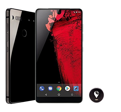 Essential Phone 128 GB Unlocked with Full Display, Dual Camera – Black Moon and TrackR pixel Black by Essential Products