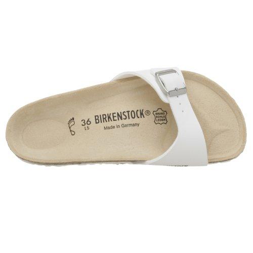 Birkenstock Madrid Birko-Flor - Sandalias de pala unisex Blanco
