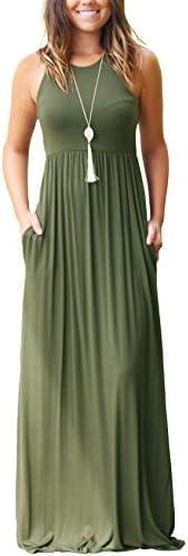 GRECERELLE Sleeveless Racerback Dresses Pockets product image