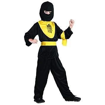 P tit payaso disfraz infantil Ninja - negro/amarillo ...