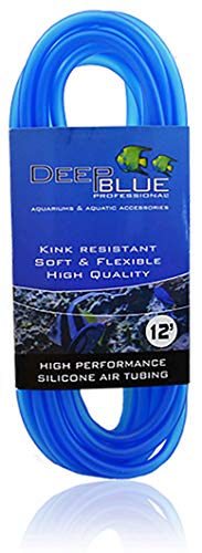 Deep Blue Professional ADB12295 Silicone Air Tubing for Aquarium, 12-Feet ()