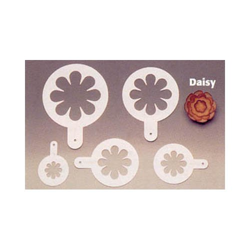 OKSLO Decorating stencil, stainless steel, 5 pc. set - daisies