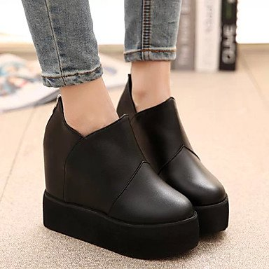 LvYuan uk4 Wedge us6 Casual ruby Heel 7 Jane ggx Mary 5 Boots 5 PU Feather 5 cn37 Women's Winter eu37 1Rgrxqna1