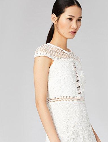 FABLE Elegante TRUTH amp; Pizzo Vestito con Bianco White Donna qCx6wvf